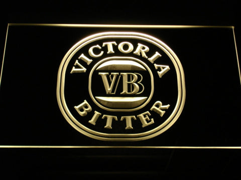 Image of Victoria Bitter LED Neon Sign - Yellow - SafeSpecial