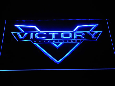 Victory Motorcycles LED Neon Sign - Blue - SafeSpecial