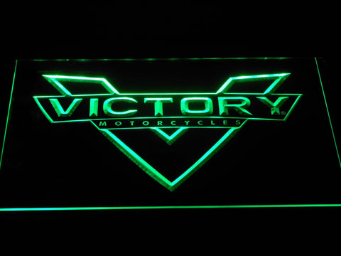 Image of Victory Motorcycles LED Neon Sign - Green - SafeSpecial