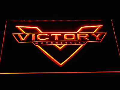 Victory Motorcycles LED Neon Sign - Orange - SafeSpecial