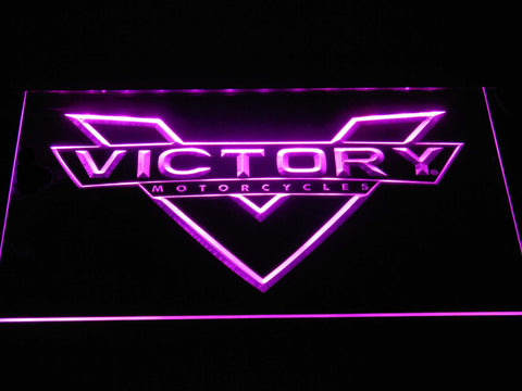 Image of Victory Motorcycles LED Neon Sign - Purple - SafeSpecial
