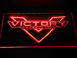 Victory Motorcycles LED Neon Sign - Red - SafeSpecial