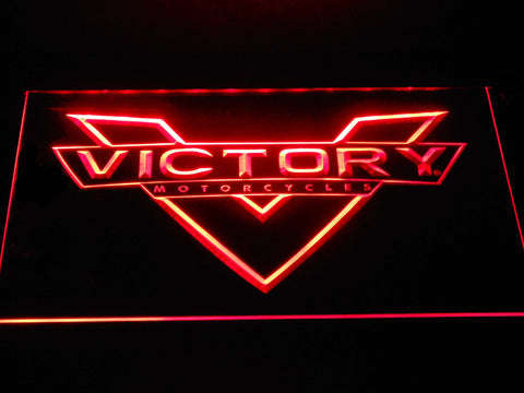 Image of Victory Motorcycles LED Neon Sign - Red - SafeSpecial