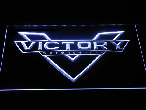 Victory Motorcycles LED Neon Sign - White - SafeSpecial