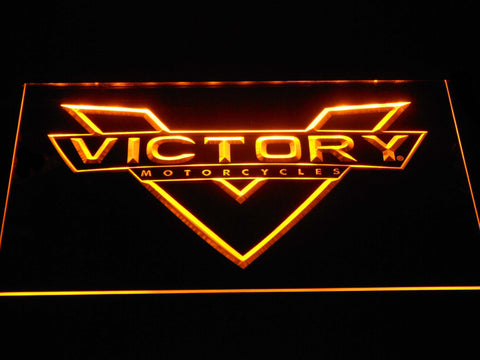 Image of Victory Motorcycles LED Neon Sign - Yellow - SafeSpecial