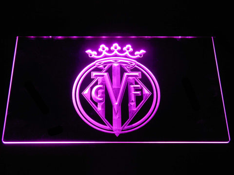 Image of Villarreal CF LED Neon Sign - Purple - SafeSpecial