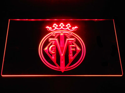 Villarreal CF LED Neon Sign - Red - SafeSpecial