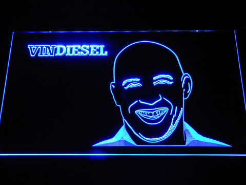 Image of Vin Diesel LED Neon Sign - Blue - SafeSpecial
