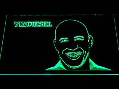 Vin Diesel LED Neon Sign - Green - SafeSpecial