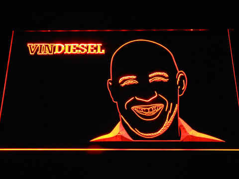 Image of Vin Diesel LED Neon Sign - Orange - SafeSpecial