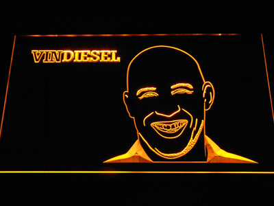 Vin Diesel LED Neon Sign - Yellow - SafeSpecial