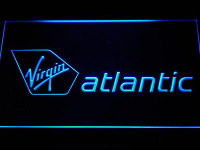 Virgin Atlantic LED Neon Sign - Blue - SafeSpecial