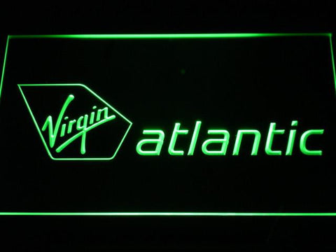 Image of Virgin Atlantic LED Neon Sign - Green - SafeSpecial