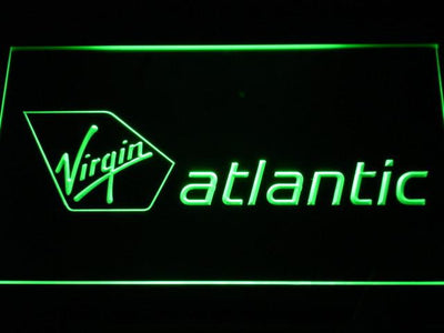 Virgin Atlantic LED Neon Sign - Green - SafeSpecial