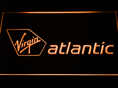 Virgin Atlantic LED Neon Sign - Orange - SafeSpecial