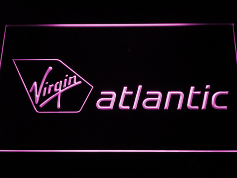 Image of Virgin Atlantic LED Neon Sign - Purple - SafeSpecial