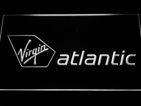 Image of Virgin Atlantic LED Neon Sign - White - SafeSpecial