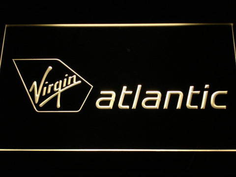 Image of Virgin Atlantic LED Neon Sign - Yellow - SafeSpecial