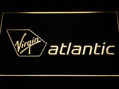 Virgin Atlantic LED Neon Sign - Yellow - SafeSpecial