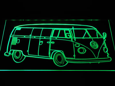 Volkswagen Bus LED Neon Sign - Green - SafeSpecial