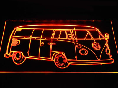 Volkswagen Bus LED Neon Sign - Orange - SafeSpecial