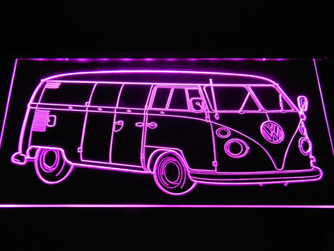 Image of Volkswagen Bus LED Neon Sign - Purple - SafeSpecial