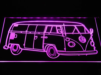 Volkswagen Bus LED Neon Sign - Purple - SafeSpecial