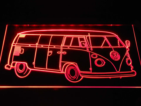Image of Volkswagen Bus LED Neon Sign - Red - SafeSpecial