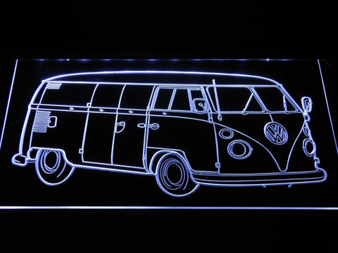 Image of Volkswagen Bus LED Neon Sign - White - SafeSpecial