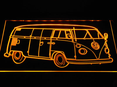 Volkswagen Bus LED Neon Sign - Yellow - SafeSpecial