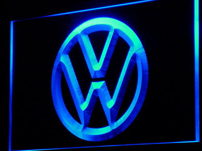 Volkswagen LED Neon Sign - Blue - SafeSpecial