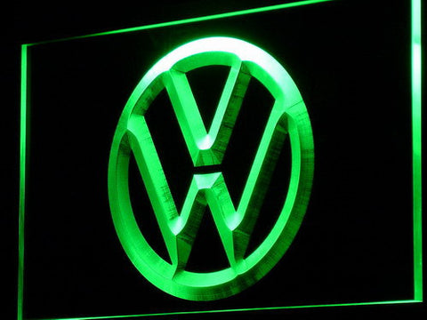 Image of Volkswagen LED Neon Sign - Green - SafeSpecial