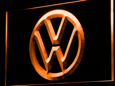 Volkswagen LED Neon Sign - Orange - SafeSpecial
