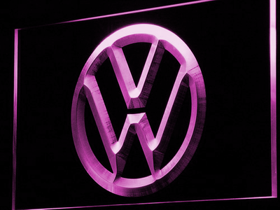 Volkswagen LED Neon Sign - Purple - SafeSpecial