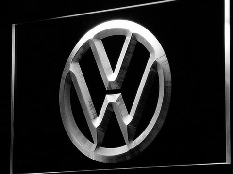 Image of Volkswagen LED Neon Sign - White - SafeSpecial