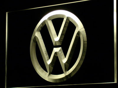 Volkswagen LED Neon Sign - Yellow - SafeSpecial