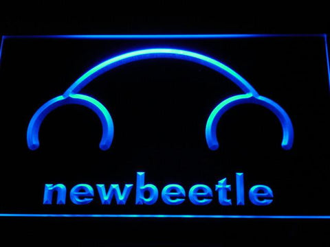 Image of Volkswagen New Beetle LED Neon Sign - Blue - SafeSpecial