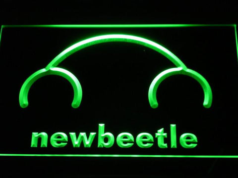 Image of Volkswagen New Beetle LED Neon Sign - Green - SafeSpecial