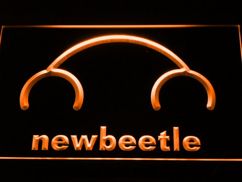 Volkswagen New Beetle LED Neon Sign - Orange - SafeSpecial