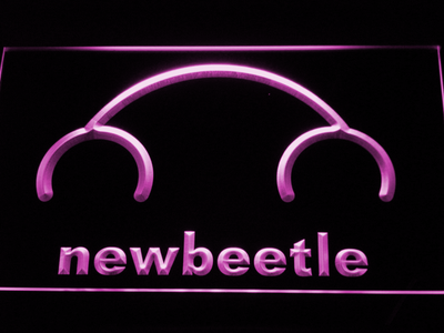 Volkswagen New Beetle LED Neon Sign - Purple - SafeSpecial