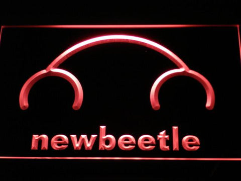 Image of Volkswagen New Beetle LED Neon Sign - Red - SafeSpecial