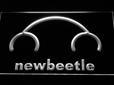 Volkswagen New Beetle LED Neon Sign - White - SafeSpecial