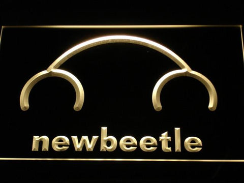 Image of Volkswagen New Beetle LED Neon Sign - Yellow - SafeSpecial