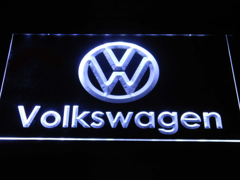 Image of Volkswagen Wordmark LED Neon Sign - White - SafeSpecial
