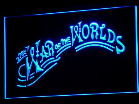 Image of War of the Worlds LED Neon Sign - Blue - SafeSpecial