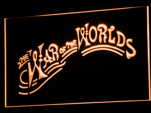 Image of War of the Worlds LED Neon Sign - Orange - SafeSpecial