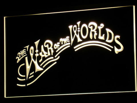 Image of War of the Worlds LED Neon Sign - Yellow - SafeSpecial