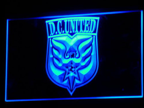 Washington DC United LED Neon Sign - Legacy Edition - Blue - SafeSpecial
