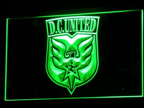 Image of Washington DC United LED Neon Sign - Legacy Edition - Green - SafeSpecial