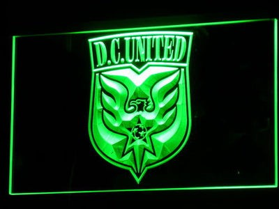 Washington DC United LED Neon Sign - Legacy Edition - Green - SafeSpecial